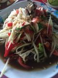 Som Tam food cuisine from Thailand. Som Tam is green papaya salad cuisine from Thailand royalty free stock photography