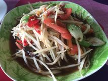 Som Tam food cuisine from Thailand. Som Tam is green papaya salad cuisine from Thailand royalty free stock images