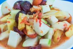 Som Tam Fruit Salad Fotografia de Stock