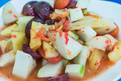 Som Tam Fruit Salad. (som tam polamai Stock Photography