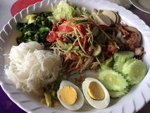 Som Tam. Is green papaya salad cuisine from Thailand Royalty Free Stock Image