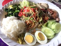 Som Tam. Is green papaya salad cuisine from Thailand Royalty Free Stock Images