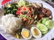 Som Tam. Is green papaya salad cuisine from Thailand Royalty Free Stock Photography