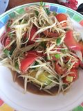 Som Tam. Is green papaya salad cuisine from Thailand Stock Photo