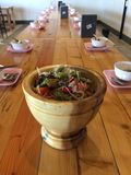 Som Tam is green papaya salad Royalty Free Stock Photography