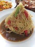Som Tam is green papaya salad Stock Image
