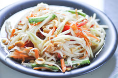 SOM TAM or papaya salad. Spicy salad ,SOM TAM or Thai spicy salad Royalty Free Stock Images