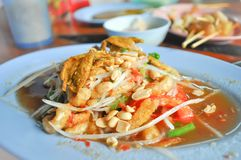 Som tam or papaya salad. Som tam , Thai salad or papaya salad Stock Images