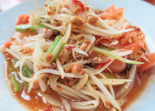 Som-Tam,papaya salad. Thai food stock images