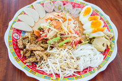 Som tam ,papaya salad . Stock Image