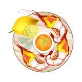 Som Tam, Papaya-Salat, Salat, Lebensmittel, Mahlzeit, Küche, Aperitif, appetitanregend, Platte, Teller, vektor abbildung