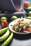 Som Tam Pu. PAPAya Salad with Salt Crab Thai food Stock Photo