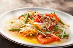 Som tam salad. Som tam, delicious traditional thai papaya salad Stock Photography