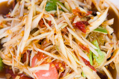 Som tam, spicy papaya salad. From Thailand Royalty Free Stock Image