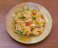 Som tam, spicy papaya salad. From Thailand Stock Image
