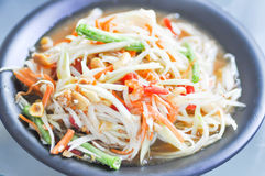 Som tam ,spicy salad or Thai food. Som tam ,spicy salad dish or Thai food stock photos