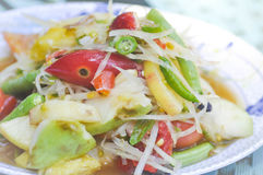 Som tam , spicy salad  or Thai food. Som tam ,spicy salad dish or Thai food Royalty Free Stock Photos