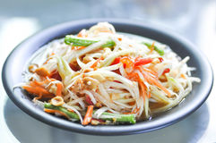 Som tam or spicy salad in Thailand Royalty Free Stock Photos