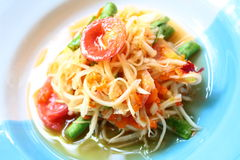 Som Tam : Thai food. Som Tam or Papaya Salad is one kind of famous foods from Thailand stock photos