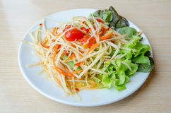 Som Tam. Thai Green Papaya Salad Stock Photo
