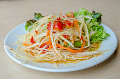 Som Tam. Thai Green Papaya Salad Stock Image