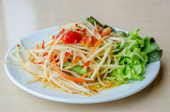 Som Tam. Thai Green Papaya Salad Royalty Free Stock Images
