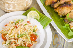Som Tam Thai Royalty Free Stock Photography