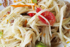 Som Tam - Thai. Green Papaya Salad (Without Pounding Stock Photography