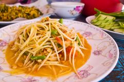 Som Tam,Thai papaya salad Royalty Free Stock Image