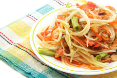 Som Tam, Thai papaya salad. Close up stock images