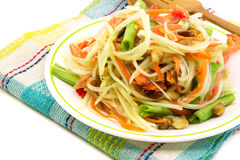 Som Tam, Thai papaya salad. Close up stock image