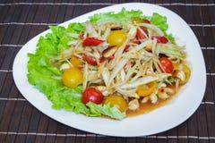 Som Tam; Thai papaya salad. Stock Photo