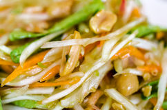 Som Tam Thai (Papaya salad). Thai North East  Tradition spicy food , closeup Royalty Free Stock Photo