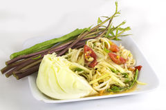 Som tam (Thai papaya salad) Royalty Free Stock Photography