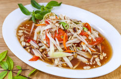 Som Tam Thai. Thai food. Food East of Thailand.  Royalty Free Stock Images