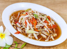 Som Tam Thai. Thai food. Food East of Thailand.  Stock Photos