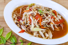 Som Tam Thai. Thai food. Food East of Thailand.  Stock Photo