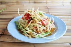 Som Tam Thailand. Green Papaya Salad SOM TAM stock photo