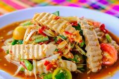 Som Tam Vietnamese Pork Sausage fotos de stock royalty free