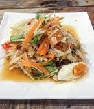 SOM Tum ή ταϊλανδική σαλάτα στοκ φωτογραφία με δικαίωμα ελεύθερης χρήσης