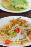 Som Tum with crab. Spicy papaya salad with crab , asian spicy food Stock Images