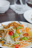 Som Tum with crab. Spicy papaya salad with crab , asian spicy food Stock Photography