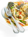 This Som Tum is delicious thai food. A photo of delicious thai food Royalty Free Stock Photos