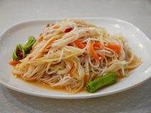 Som Tum look yummy. Som tum or papaya pok pok, one of popular food in thailand royalty free stock photography