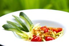 Som tum mango. Green mango salad or Som tum is local food Northeast of Thailand royalty free stock images