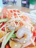 Som Tum or papaya salad Royalty Free Stock Image