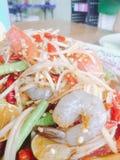 Som Tum or papaya salad. Som Tum or papaya mixed,Thaifood royalty free stock image
