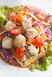 Som Tum, papaya salad. Som Tum Poo, papaya salad with crab Royalty Free Stock Photos