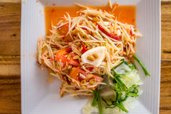 Som Tum - papaya salad - spicy Thai food. Thai Papaya Salad Som Tum Stock Photo