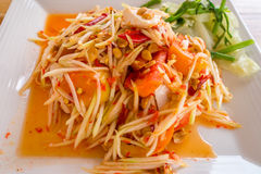 Som Tum - papaya salad - spicy Thai food Royalty Free Stock Photo